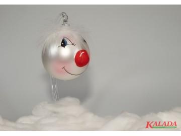 Vánoční ozdoba hlava, perleťová