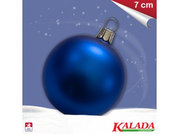 Koule modrá - matná - 7cm