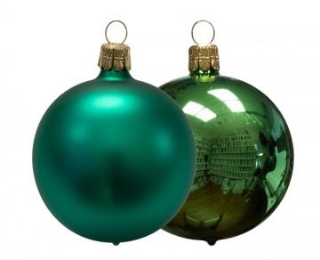 Vánoční koule lahvová, matná a lesklá