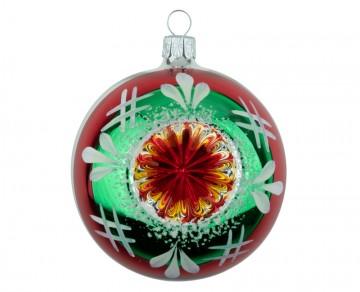 Vánoční koule stříbrná, sada reflektorek