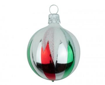 Vánoční koule stříbrná, mix dekorů