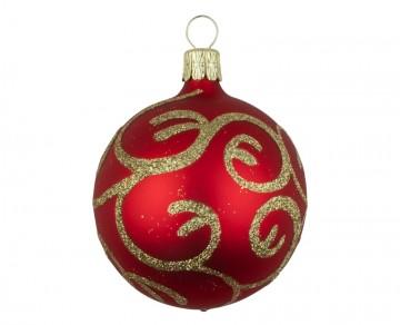 Vánoční koule mix barev, jemný dekor