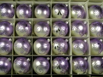 Sada vánočních ozdob - koule 712 490 22-7 104-664
