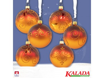 Sada vánočních ozdob - koule 712 490 22-7 444-5v4