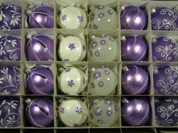 Sada vánočních ozdob - koule 712 490 30-7 116-664