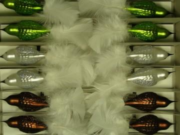 Vánoční ozdoba - ptáček 731 258 31-v ass147