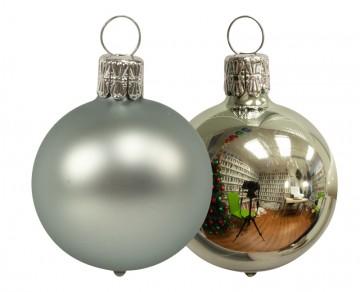 Vánoční koule zelenkavá, matná a lesklá