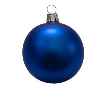Vánoční koule modrá, matná