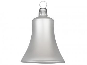 Vánoční zvonek perleťový, matný