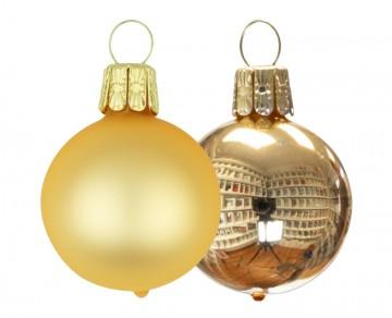 Vánoční koule zlatá, matná a lesklá