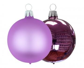 Vánoční koule lila, matná a lesklá