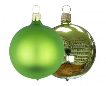 Vánoční koule olivová, matná a lesklá