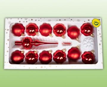 Sada vánočních ozdob červená
