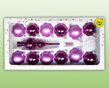 Sada vánočních ozdob fialová