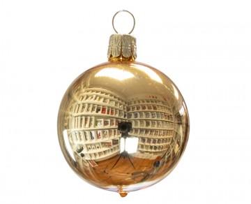 Vánoční koule světle zlatá, lesklá