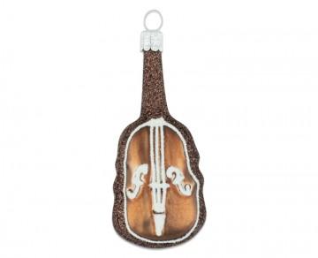 Vánoční ozdoba hudební nástroj, čokoládová