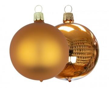 Vánoční koule skořicová, matná a lesklá