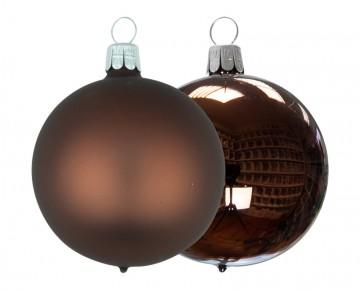 Vánoční koule čokoládová, matná a lesklá