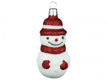 Skleněná figurka sněhulák, skořápka