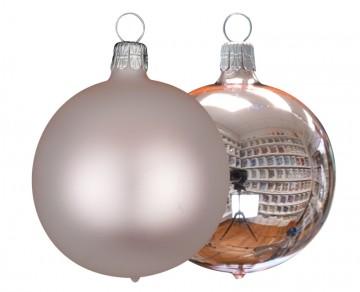 Vánoční koule pudrová, matná a lesklá