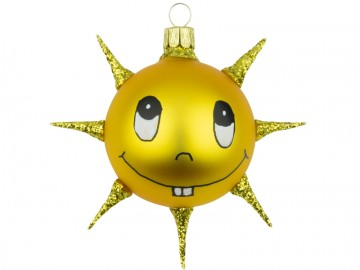 Přírodní tvar sluníčko, tmavě žluté