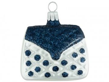 Vánoční ozdoba kabelka, perleťová