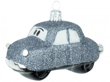 Skleněné auto, stříbrné