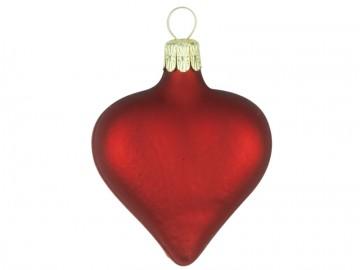 Vánoční srdce vínové, matné