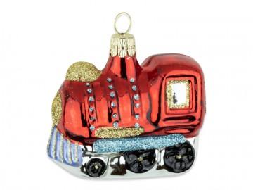 Skleněná lokomotiva, červené