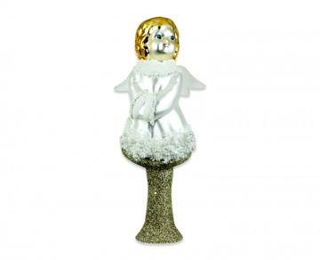 Vánoční špice perleťová, anděl