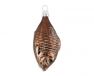 Skleněné zvířátko ryba, vanilka