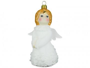 Skleněná figurka anděl, skořápka