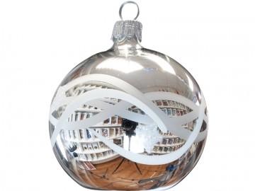 Vánoční koule stříbrná, vlnka