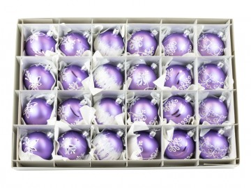 Vánoční koule fialová světlá