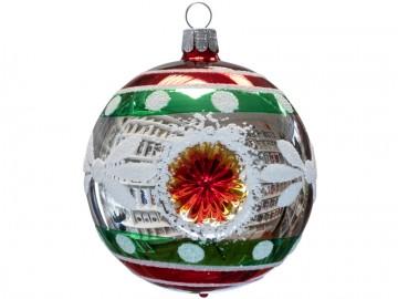 Vánoční koule stříbrná