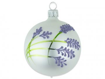 Vánoční koule perleťová, levandule
