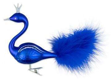 Skleněná labuť, modrá