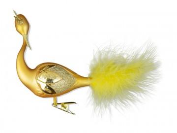 Skleněná labuť, tmavě zlatá