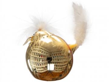 Skleněný ptáček, zlatý