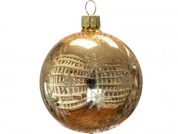 Vánoční koule zlatá světlá, hvězdička