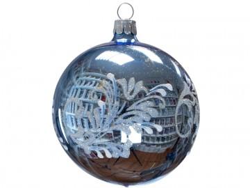 Vánoční koule bleděmodrá, lístky