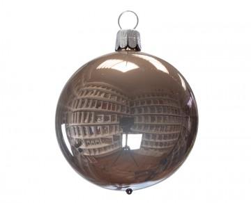 Vánoční koule hnědá, porcelánový odlesk