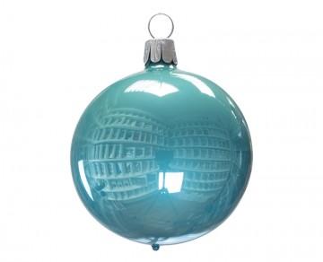 Vánoční koule zelenkavá, porcelánový odlesk