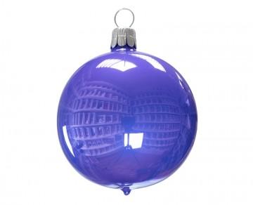 Vánoční koule fialová světlá, porcelánový odlesk