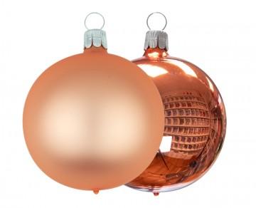 Koule oranžová lesk - mat - 6cm