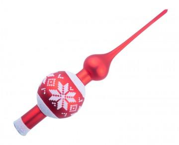 Vánoční špice červená, vločka