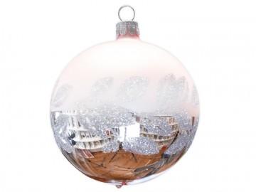 Vánoční koule pudrová, lístky