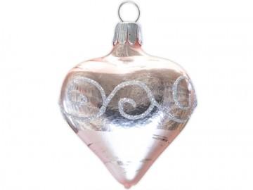 Vánoční srdce pudrové, spirálka