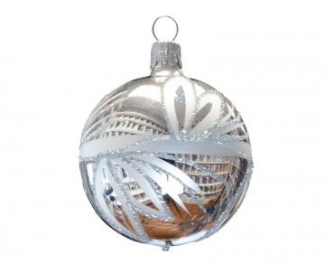 Vánoční koule stříbrná, lístky