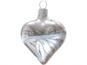 Vánoční srdce stříbrné, lístky